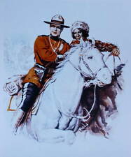 Canadian Mountie RCMP on white horse by Paul Propehl