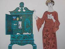 Gazette du Bon Ton Pochoir Art Deco Le Tombeau des Secrets by G. Barbier - 1920
