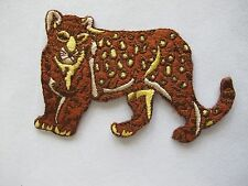 #2995 Wild Animal Leopard Embroidery Iron On Applique Patch