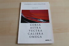90183) Opel Corsa A Astra Calibra - Farben & Polster - Austria Prospekt 03/1993