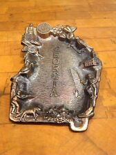VINTAGE GEORGIA METAL TRINKET COIN TRAY JAPAN SOLD AT STUCKY'S