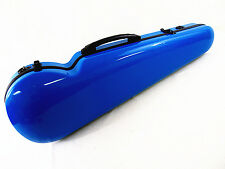 90% New - Becutiful 4/4 Blue fiberglass violin case - Light and Strong