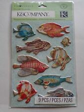 K & CO TIM COFFEY TRAVEL FISH PILLOW STICKERS BNIP