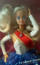 Unicef Barbie Doll 1989 Vintage Mattel Collectible New with Poster included