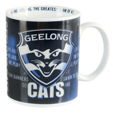 AFL Coffee Mug - Geelong Cats - Team Song Drinking Cup - Gift Box - BNWT