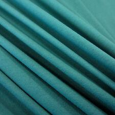 Stoff Meterware Baumwolle Jersey petrol grün Tricot T-Shirt weich NEU