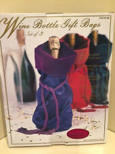 (set of 3) WINE BOTTLE Gift Bags (NEW IN BOX)
