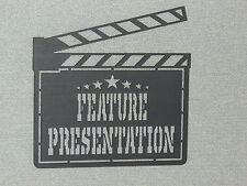 Movie Clapper Board FEATURE PRESENTATION Hanging Sign Wall Art Decor