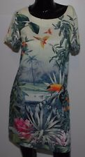 H&M Conscious Collection Sheath Dress Size 4 Tropical Pelican Recycled Materials