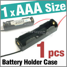 "1 x Battery Clip Holder Case Box For 1 x AAA 3A Size Battery  w/ 6"" Wire Lead"