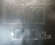 """1"""" - 6"""" SQUARE TEMPLATES - PRECISION LASER CUT - FOR LEATHER CRAFTERS - STS"""
