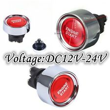 Autos Car Engine Ignition Start Push Button Switch Red Universal DC12V-24V 50A