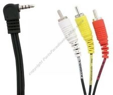 "Lot10 6ft 1/8"" 4conductor~triple Rca Y/R/W,3.5mm Audio/Video Adapter Cable$Shdis"