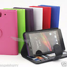 Premium Credit Wallet Stand Leather Case Cover For Sony Xperia Z