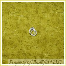 BonEful Fabric FQ Cotton Quilt Green Olive Yellow Calico S Tweed Blender Texture