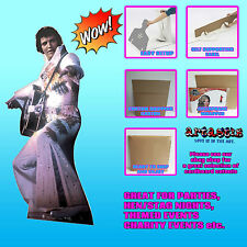 ELVIS PRESLEY  IN WHITE JUMP SUIT LIFESIZE CARDBOARD CUTOUT STANDUP