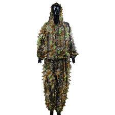 3D Ghillie Suit woodland Combinaison Camouflage Vêtement Chasse Taille unique