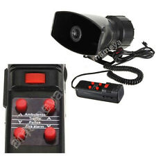 100 W 5 Mode Loud Car Warning Alarm Police Fire Siren Horn PA Speaker MIC System