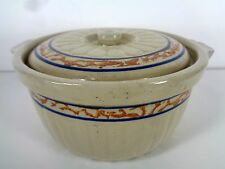 Red Wing Stoneware Pottery Sponge Band Gray Line Casserole With Lid