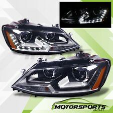 [LED DRL] 2011 2012 2013 2014 2015 Volkswagen VW Jetta MK6 Projector Headlights
