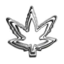 Marijuana Leaf Cookie Cutter Set of 3- Stainless Steel - Pot Cannabis Weed Mold