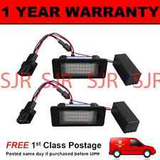 2X FOR AUDI A4 A5 S5 Q5 TT 24 WHITE LED NUMBER PLATE LIGHT LAMPS XENON 6500K