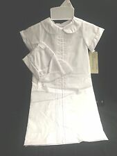 Alexis Unisex Christening Gown with Pintucks 9526 newborn
