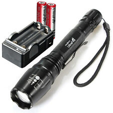UltraFire 2000 Lumen CREE XML T6 LED ZOOMABLE Flashlight Torch+ Battery+ Charger