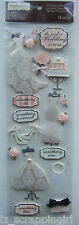 Recollections ~ELEGANT BRIDAL~ Dimensional Stickers; Bride Wedding Dresses Shoes