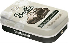 Retro Tin Metal Pill Box VW BEETLE w Mints 6x4cm Think Small Licensed Product