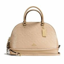 NWT Coach Sierra Satchel Dome In Signature Debossed Patent Leather F55449