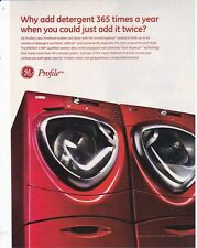 GE PROFILE 2008  magazine ad print page advertisement clipping for washer dryer