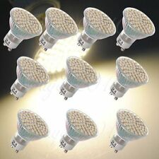 10x 220V 5W GU10 3528 SMD 60LED Warm White 3200K High Power Spot Light Bulb Lamp