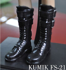 "1/6 scale KUMIK FS-21  Female Shoes Boots Fit 12"" Hot toys Action Figure"