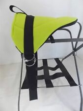 PONY BAREBACK PAD SADDLE-  BRIGHT LIMEY GREEN!