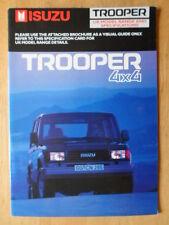 ISUZU TROOPER 4X4 orig 1988-89 UK Mkt Sales Brochure