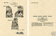 SHAWNEE PUSS 'N BOOTS Cookie Jar US Patent Art Print READY TO FRAME!!! 1945 Ganz
