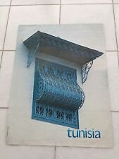 Vintage French Art Advertising Poster 1968-70 For Tunisia By Tourist Board