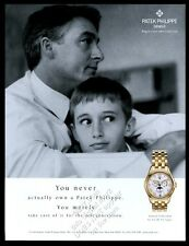 2003 Patek Philippe annual calendar moon phase watch father son photo print ad