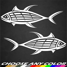 2 Tuna Sticker Decal Blue Fin Fishing Ocean Boat Truck Beach Tropical Island