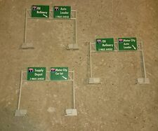 3 Tyco US-1 Electric Trucking Original Highway Signs slot car track accessory