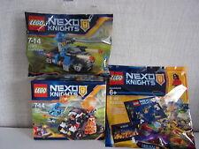 Lego Nexo Chevaliers lot de 3 - 70311 + 30371 + Polybag