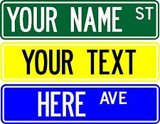 "MAKE YOUR OWN STREET SIGN, 6""X24"" CUSTOMIZE WITH ANY NAME OR TEXT (1 SIDED)"