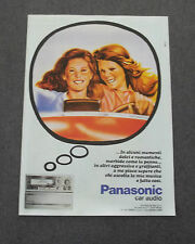 G237-Advertising Pubblicità - 1982 - PANASONIC CAR AUDIO