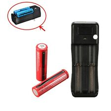2PCS 18650 3.7V 3800mAh Rechargeable Lithium Battery + Dual AC CHARGER