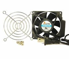 80mm 25mm New Case Cabinet Fan 110 115 120V AC & Finger Guard Ball Cooling 427*