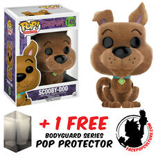 FUNKO POP SCOOBY DOO FLOCKED EXCLUSIVE VINYL FIGURE + FREE POP PROTECTOR