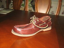 TIMBERLAND MEN'S CLASSIC 2-EYE BOAT SHOES SZ 7 - UK 6.5 EUR 40 DARK BROWN