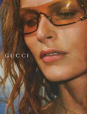 Publicité 2002  Lunette GUCCI  mode collection