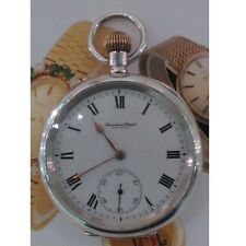 Mint Solid Silver IWC 15J Deco Pocket Watch 1912